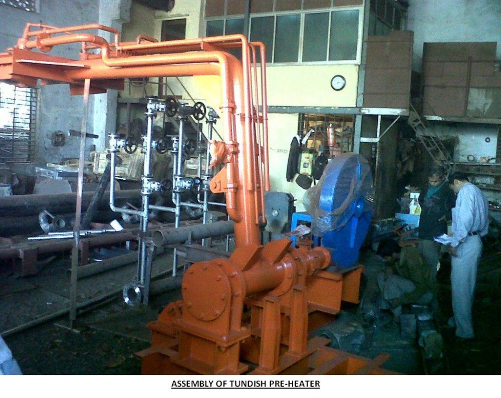 Tundish Slide Gates : Tundish pre heater intermetal